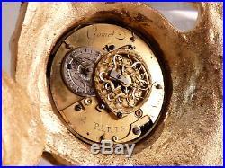 Petit Cartel XVIIIe à Quantièmes En Bronze Doré pendule clock uhr reloj