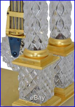 Portique cristal. Kaminuhr Empire clock bronze horloge antique cartel pendule