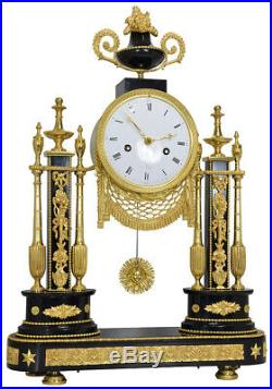 Portique marbre. Kaminuhr Empire clock bronze horloge cartel uhren pendule