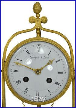 Puits Echopié. Kaminuhr Empire clock bronze horloge antique cartel pendule