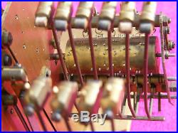 RARE Carillon 5 airs 10 tiges 10 marteaux pendule Angelus Carrez Odo chime clock