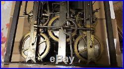 RARE Horloge Comtoise XVIIIème, 3cloches, sonnerie des quarts, UHR, reloj, clock