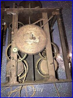 RARE MOUVEMENT DE CONTOISE 18EME TYPE MAYET coq portrait horloge pendule