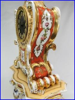 RARE PENDULE PAGODE XIXème PORCELAINE DE PARIS ESPRIT JACOB PETIT CHINESE CLOCK