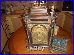 Religieuse Cartel Ancien 18eme Horloger Italien Rome Sort Grenier
