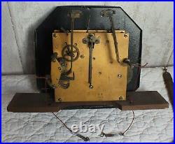 Rare Ancien MECANISME de CARILLON Pendule / ODO 36 / 8 Marteaux 8 Tiges Clé