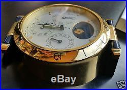 Rare CARTIER DESK CLOCK MOONPHASE PENDULETTE TRAVEL LIGHTER PEN watch montre