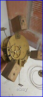 Rare Horloge Pendule Tableau Mécanisme Carillon Foret Noire Comtoise