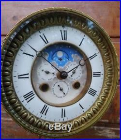 Rare Mécanisme De Pendule Horloge Phases De Lune À Complications