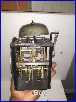 Rare Miniature Comtoise Horloge Pendule Carillon Foret Noire