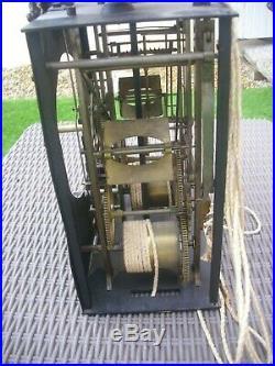 Rare Mouvement Coq Horloge Pendule Comtoise 3 Cloches