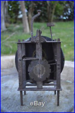 Rare Mouvement d'Horloge de Pont Farcy Epoque Fin XVIIIe Siècle Comtoise Pendule