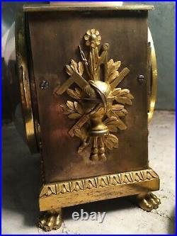 Rare Pendule De Table Officier Grande Sonnerie Époque Empire pendulette