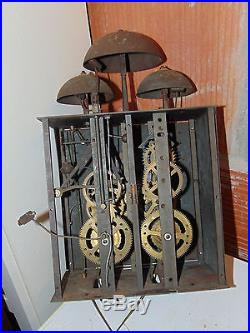 Rare Pendule Horloge Comtoise Avec Phase Lune 19 Eme