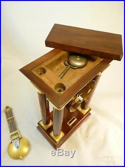 Rare Pendule Regulateur En Acajou Et Bronze Doré Signé Lépine clock uhr reloj