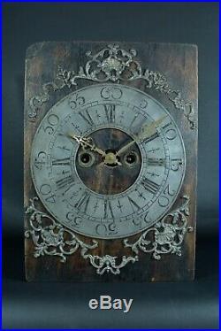 Rare Pendule ancienne Mouvement horloge d'époque 18 ème antique clock