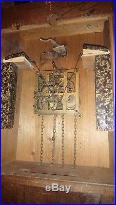 Rare ancienne horloge coucou de la foret noire du 19 éme siècle