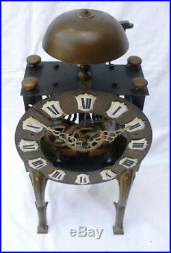 Rare et étonnante PENDULE SQUELETTE mécanisme franc-comtois XIXème clock