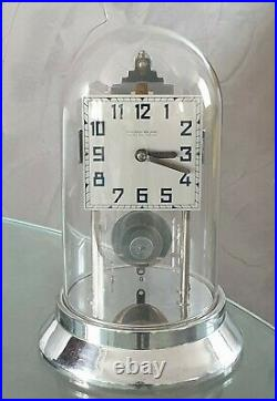 Rare horloge pendule Électrique Art Déco de Favre-Bull 800 Jours