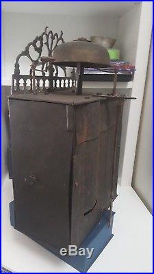 Rare horloge pendule comtoise 18 eme vers 1700 entre1720 pieces de museé 20cm