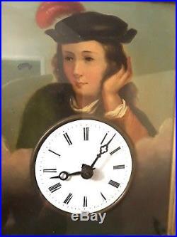 Rare pendule foret noire automate -carillon horloge comtoise