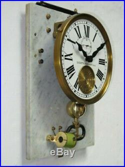 Rare pendule mère BRILLIE avec porte master clock (no Ato, Lepaute)
