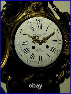 Rare pendule murale cartel bronze RAINGO FRERES french wall clock
