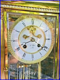 Regulateur Pendule cage L'Epee a Sonnerie Echappement visible Brocot