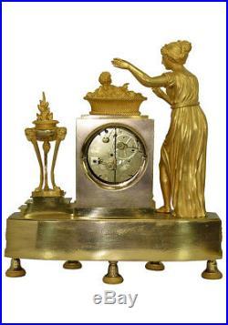 Roi de Rome. Kaminuhr Empire clock bronze horloge cartel uhren pendule