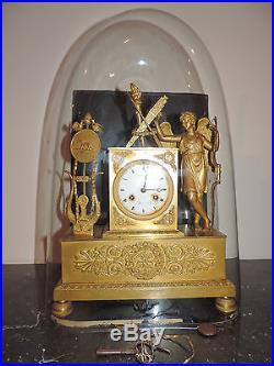 Splendide Et Fine Pendule Ep. Empire Bronze Dore Ormoulu 1800