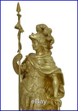Sculptures. Kaminuhr Empire clock bronze horloge antique cartel pendule