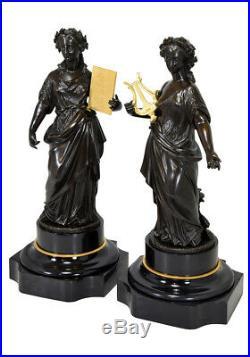 Sculptures. Kaminuhr Empire clock bronze horloge antique cartel uhren pendule