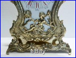 Superbe PENDULE Ancienne en Bronze ART NOUVEAU c. 1900 Fonctionne