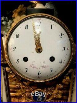 Superbe Pendule Louis XVI Signe A Sonnerie