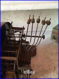 Superbe carillon Henri II 5 tiges, 5 marteaux