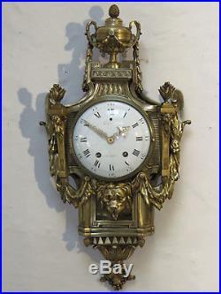 Superbe cartel d'applique LEFEBVRE XVIII siècle antique french clock bronze