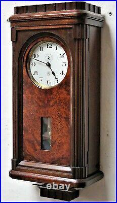 Superbe et rare pendule ATO electric clock no brillié, bulle