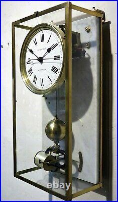 Superbe pendule BRILLIE années 30 electric clock caisson vitré (no ato, Lepaute)