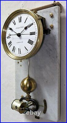 Superbe pendule BRILLIE années 30 electric clock (no ato, Lepaute)