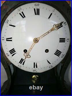 Superbe pendule Neuchateloise antique cartel swiss clock