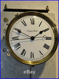 Superbe pendule electrique BRILLIE master clock regulator (no ato, lepaute)