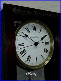 Superbe pendule electrique BRILLIE serie DUNLOP master clock (no Ato, Lepaute)