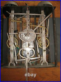 TRES RARE COMTOISE 4 CLOCHES (LARGEUR 32 cm) PERIODE 1795 1799