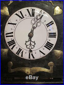 Tres Rare Mouvement Horloge Xviiie A 3 Corps De Mecanisme