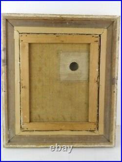 Tableau horloge pendule peinture animée boite à musique Ecole Suisse fin XIXe