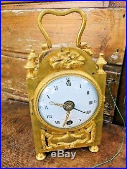 Tres Rare Capucine Pendule Epoque Louis XVI