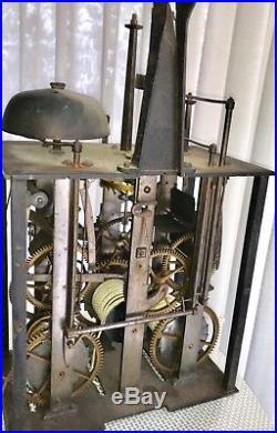 Tres Rare Horloge Comtoise, Cadran Cartouche, Trois Cloche, Signe