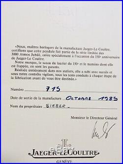 Tres Rare Pendule Atmos 150th Jeager Le Coultre JLC Fonctionne