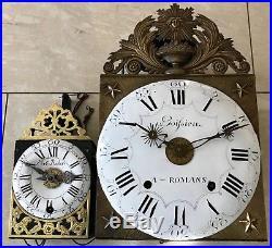 Tres, Tres Rare Petit (12,5 Cm) Horloge Comtois