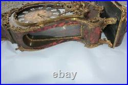 Très grand cartel style Louis XV marqueterie Boulle (53153)